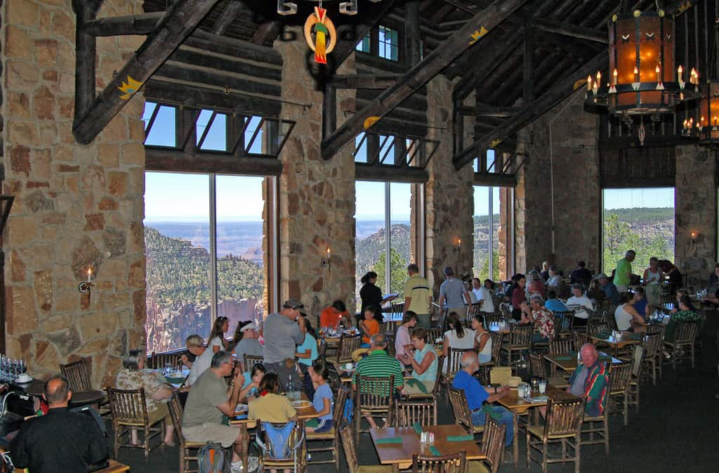 North Rim Lodge Dining - Motorcycle Ride North Rim