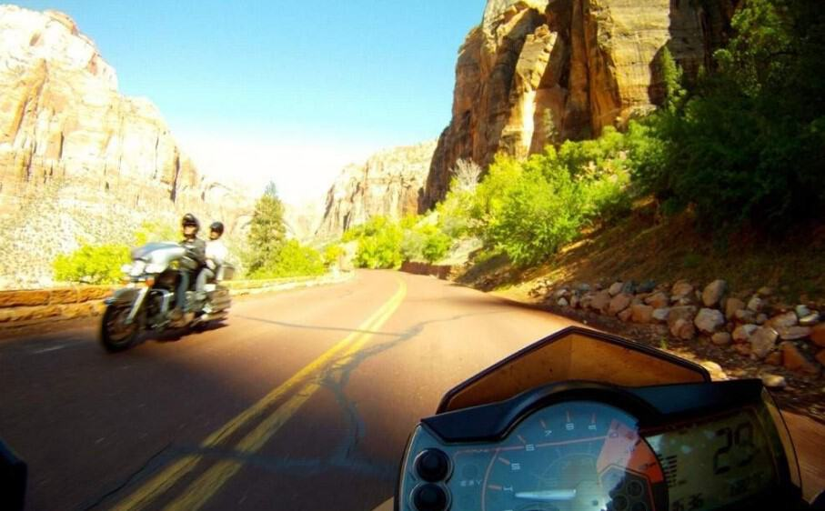 Zion NP -- Motorcycle Ride Zion