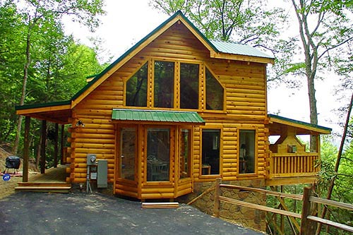Gatlinburg Bike Trip Log Cabin