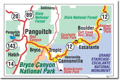 Motorcycle Rides Bryce Canyon Map